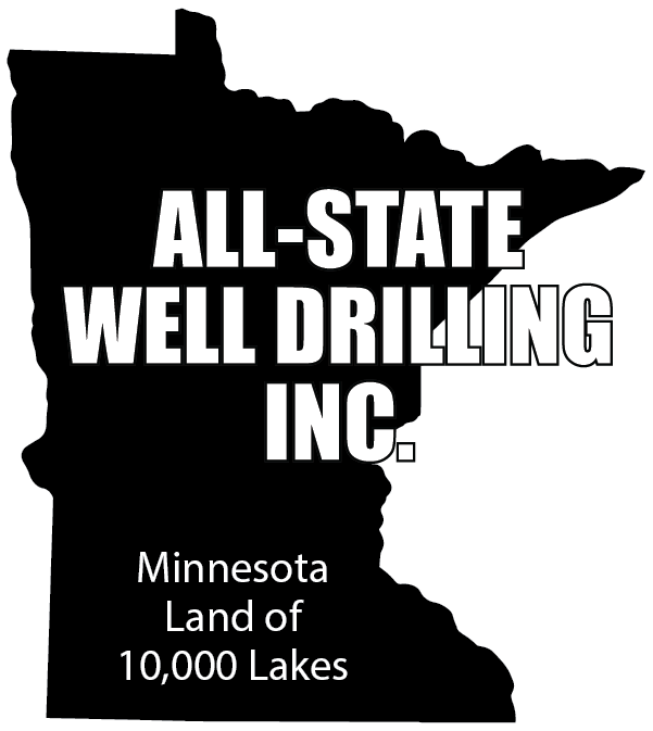 All-State Well Drilling Black and White Logo